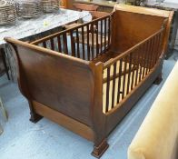MANNER OF SIMON HORN COT BED, 180cm W. (with faults)
