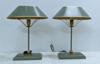 COACH HOUSE TABLE LAMPS, a pair, 42cm H with shades. (2)