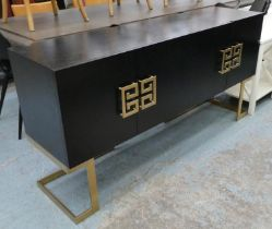 NOBBU SIDEBOARD, 42cm x 82cm H x 160cm, dark wood by Liang and Eimil.