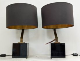 RVASTLEY TABLE LAMPS, a pair, 65cm H with shades.