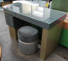 DRESSING TABLE, 132cm x 55cm x 79cm, contemporary design with one drawer. (with faults)