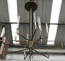 GALLOTTI & RADICE EPSILON CHANDELIER BY MASSIMO CASTAGNA, 120cm drop. (some shades lacking)