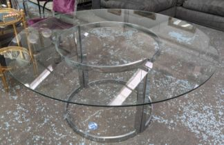ATTRIBUTED TO MERROW ASSOCIATES DINING TABLE BY RICHARD YOUNG, 152cm diam x 71cm H Vintage 1970's,