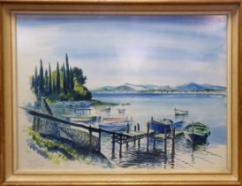 ROBERT ARMFIELD (1916 - 2000) 'Cap Antibes', watercolour and ink, signed and titled, 55cm x 74cm,