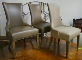 DAVIDSON AUSTIN DINING CHAIRS, a set of eight, 100cm H. (some sun bleached)