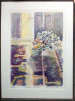 JANE CORSELLIS 'Winter Flowers', lithograph, signed, numbered and titled in pencil, framed. (Subject