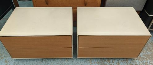POLTRONA FRAU VITRUVIO NIGHT TABLES, by Jean-Marie Massaud, a pair, 64cm x 46cm x 39cm. (2)