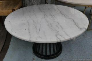 TOM DIXON FAN TABLE, 90cm diam. x 46cm H, by Tom Dixon.