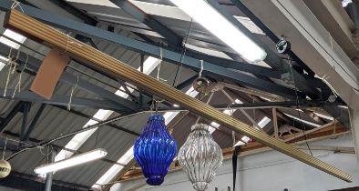 CEILING LIGHT, 75cm Drop approx, contemporary bar design.