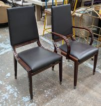 KESTERPORT DINING CHAIRS, a set of eight, 104cm H, including two carvers. (8)