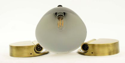 MARSET LEDTUBE L WALL LIGHTS, a pair, 13cm Diam, by Daniel López and Another by best and Lloyd. (3)