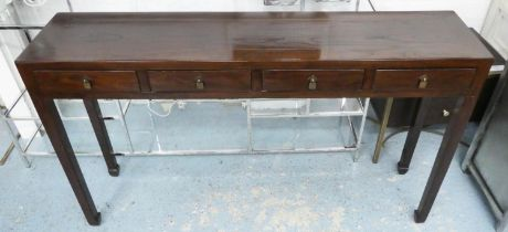 CONSOLE TABLE, 140cm x 32cm x 83cm, contemporary Oriental style.