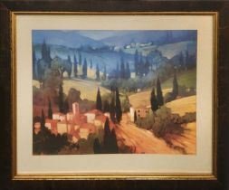 JEAN JACQUES MOTEGNIES 'Provence', Giclée, 47cm x 59cm, framed.