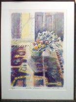 JANE CORSELLIS 'Winter Flowers', lithograph, signed, numbered and titled in pencil, framed, 91cm x