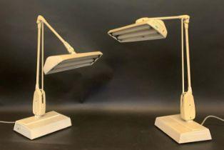 DIAMOND GRADING TABLE LAMPS, a pair, 66cm H. (2)