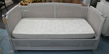 SIMON HORN LOUIS XVI STYLE DAYBED, 91cm x 97cm H x 200cm, with pull out trundle bed beneath.