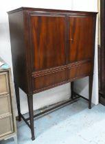 CABINET ON STAND, vintage, mid century, 93cm x 40cm x 126cm.