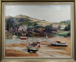 H J WATSON, 'Cornwall Beach', oil on canvas, signed and dated, framed, 85cm x 70cm.