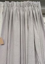 CURTAINS, a pair, lined and interlined plain woven fabric, 80cm x 230cm drop. (2)