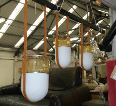 POLTRONA FRAU XI COMPOSITION L PENDANT LAMP BY NERI & HU, 70cm drop at largest.