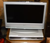 SMALL SONY LCD TV & DVD PLAYER