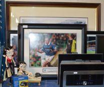VARIOUS FRAMED RANGERS FC PICTURES, 2 BETTY BOOP MODELS & BOXED PAIR OF JESSOPS BINOCULARS