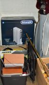 SMALL STEREO, SMALL TV, GOLF BAG WITH CLUBS, KARCHER WASHER