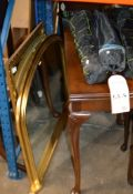 2 GILT FRAMED WALL MIRRORS & 3 FOLDING CAMPING CHAIRS