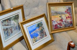 2 SIGNED LIMITED EDITION PRINTS BY FAYE WHITTAKER & NOEL GREGORY & 1 OTHER PICTURE