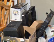 SMALL HIFI SYSTEM, DIGI BOX, SAT NAV, PORTABLE TV ETC