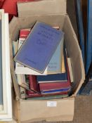 BOX WITH ASSORTED BOOKS