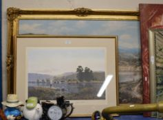 LIMITED EDITION PRINT BY COULSON, 194/850 & 1 OTHER PICTURE