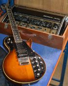 VINTAGE & RARE ROLAND SYNTHESISER GUITAR WITH ORIGINAL 24 PIN CABLE & ROLAND GR-500 SYNTHESISER AMP,