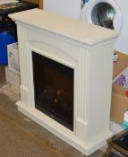 MODERN FIRE SURROUND WITH DIMPLEX ELECTRIC FIRE INSERT