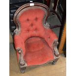 VICTORIAN MAHOGANY FRAMED CHILD SIZE CHAIR
