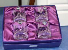 BOXED SET OF 4 EDINBURGH CRYSTAL WHISKY TUMBLERS