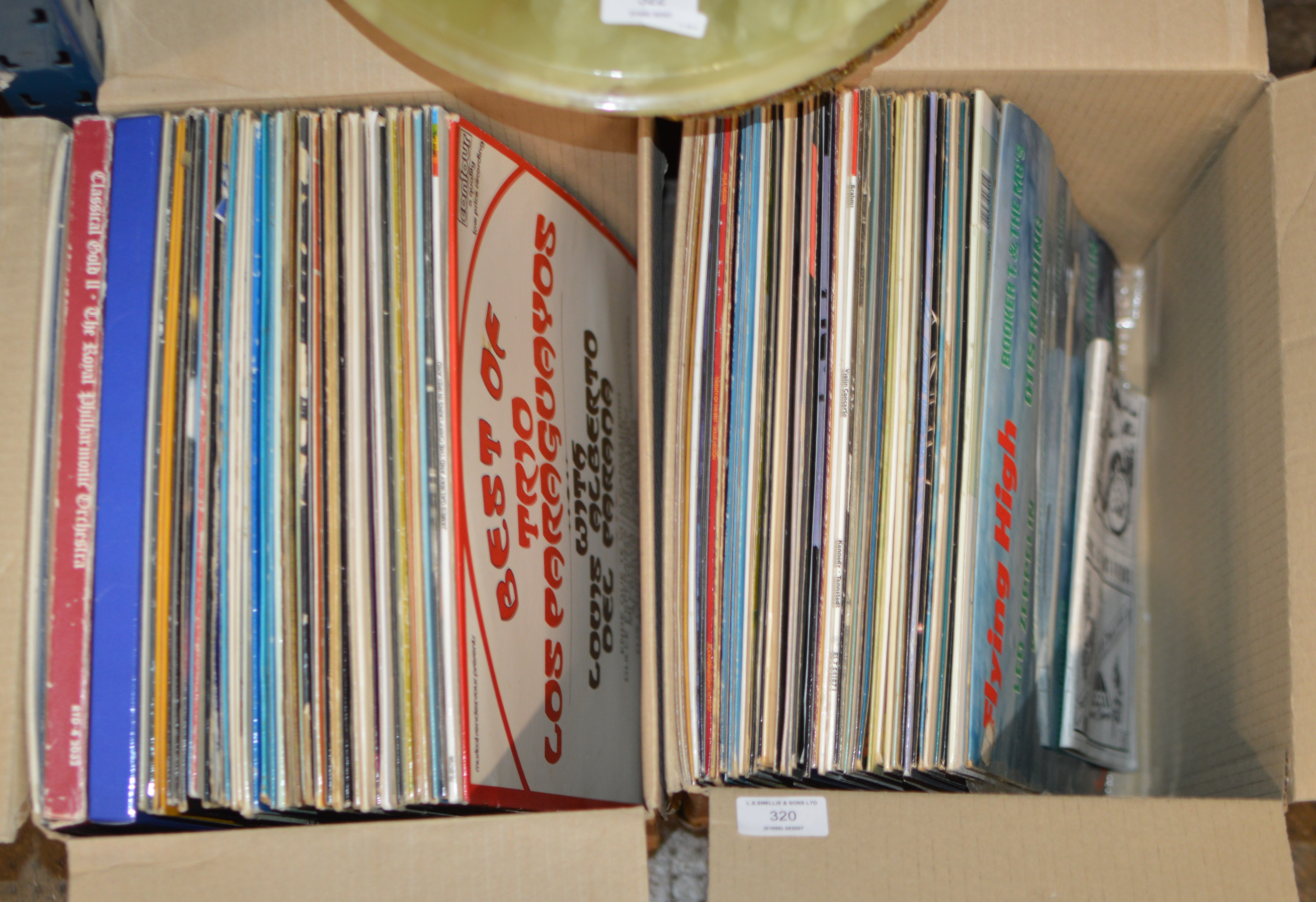2 BOXES WITH QUANTITY VARIOUS LP RECORDS