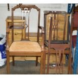ARTS & CRAFTS STYLE MAHOGANY CHAIR & 2 OTHER CHAIRS