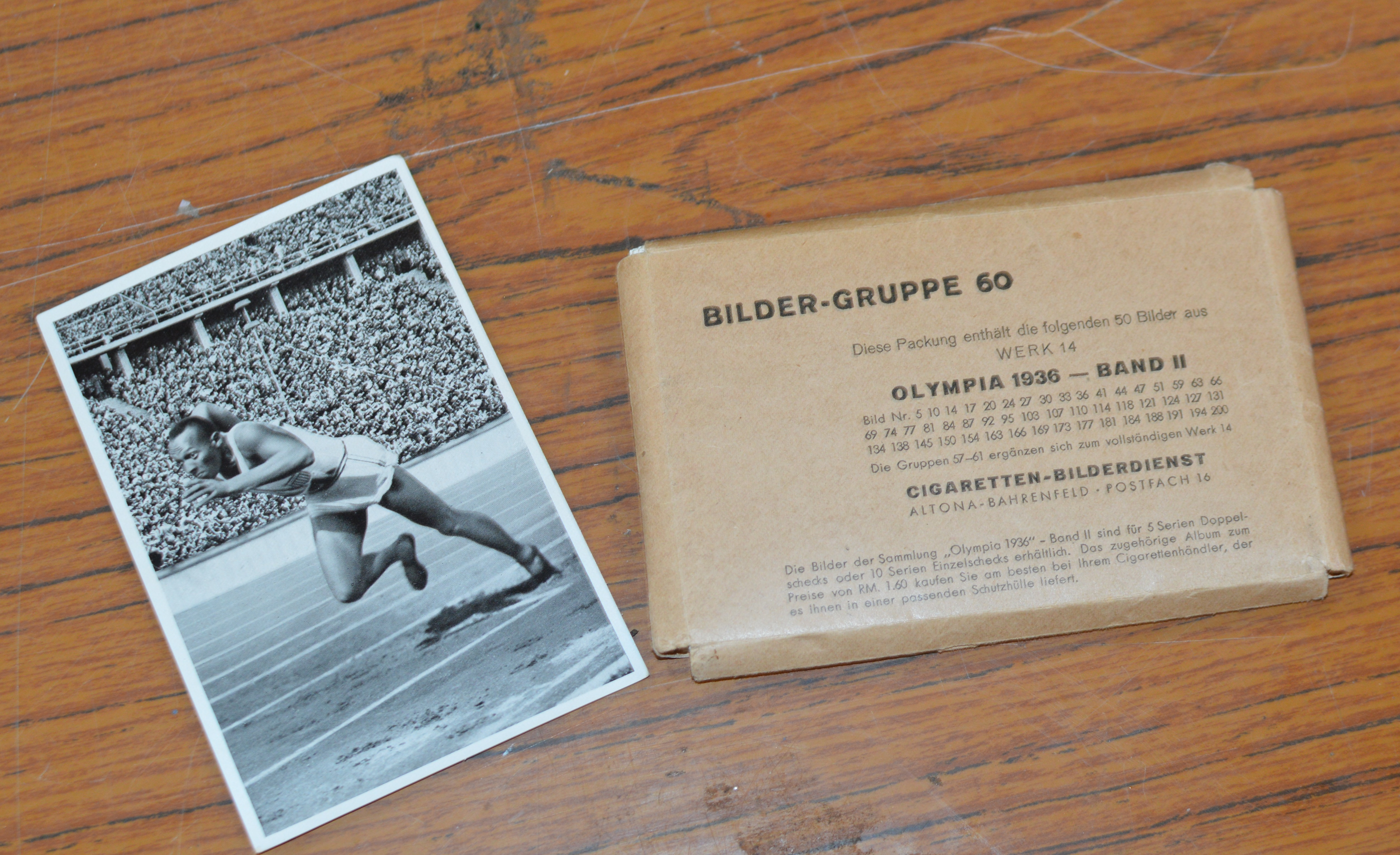 OLYMPIC GAMES BERLIN 1934 PROMOTIONAL CARDS, WITH FAMOUS US ATHLETE JESSIE OWEN