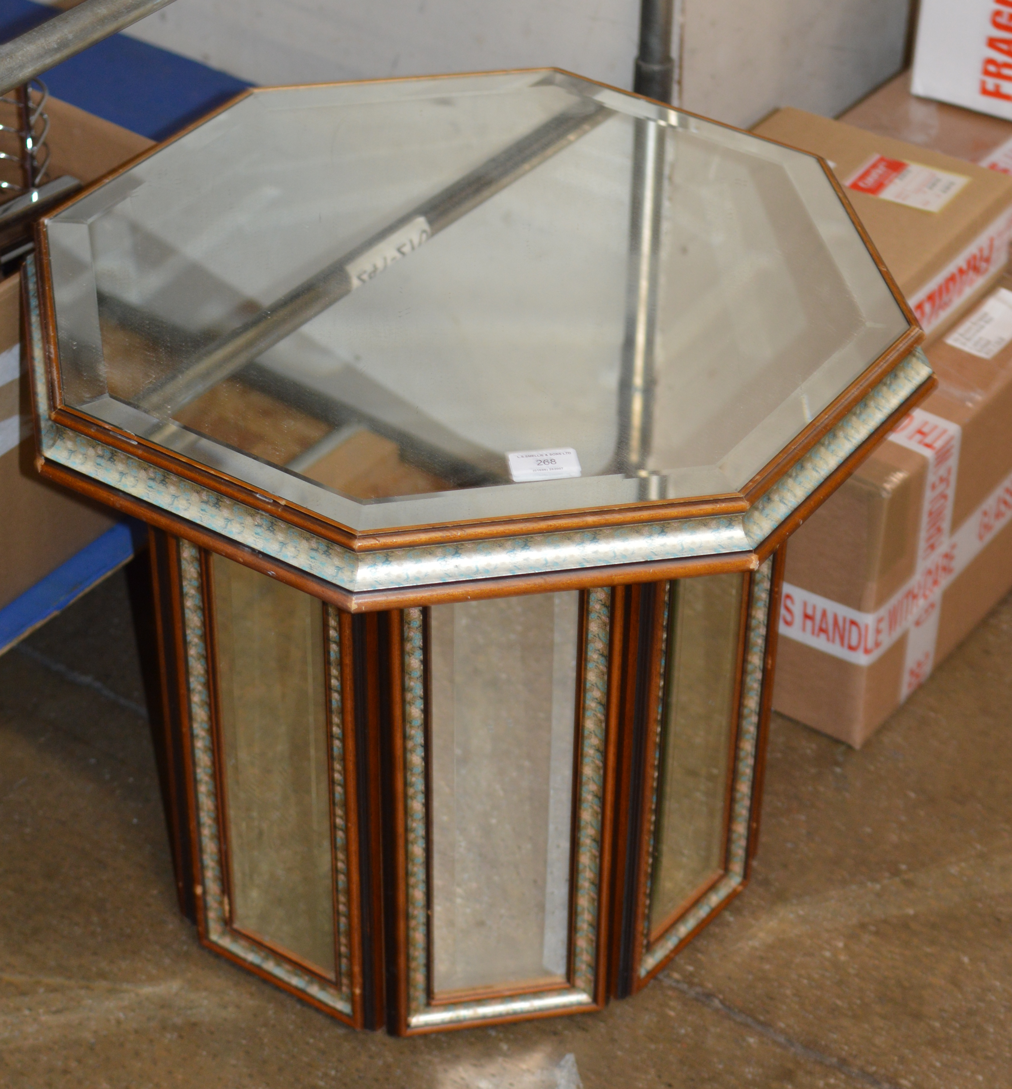 MIRRORED OCCASIONAL TABLE