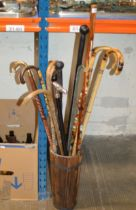STICK STAND WITH VARIOUS STICKS