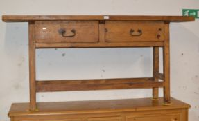 ART & CRAFTS STYLE CONSOLE TABLE WITH 2 DRAWERS