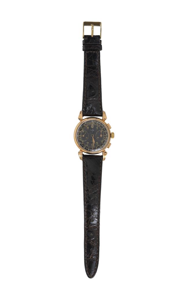 Dodane. Orologio da polso militare francese in oro rosa 18K - Image 2 of 3