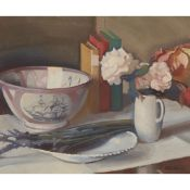 § WILLIAM OLIPHANT HUTCHISON P.R.S.A., R.P. (SCOTTISH 1889-1970) THE LUSTRE BOWL