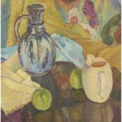 § PENELOPE BEATON R.S.A., R.S.W (SCOTTISH 1886-1963) STILL-LIFE WITH BLUE JUG