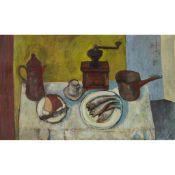 § WILLIAM SENIOR (SCOTTISH fl.1940-60) GOOD MORNING, TABLE