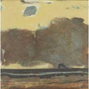 § JOHN HOUSTON R.S.A., R.S.W., S.S.A (SCOTTISH 1930-2008) DAWN - BASS ROCK