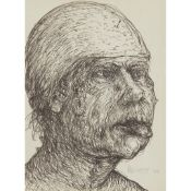 § JOHN BELLANY C.B.E., R.A. (SCOTTISH 1942-2013) PORTRAIT STUDY - 1964