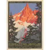 Roger Broders (1883-1953) La Chaine du Mont-Blanc