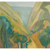 § JEANETTE LASSEN (SCOTTISH 1924-2008) THE GORGE, FRANCE